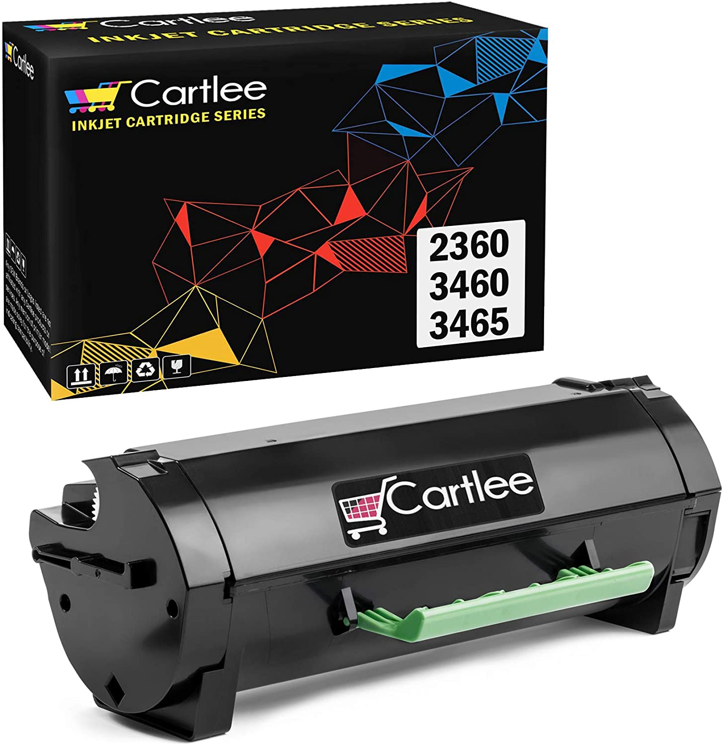 Cartlee 1 Remanufactured High Yield Laser Toner Cartridges Replacement for Dell B2360 B3460 B3465 B2360d B2360dn B3460dn B3465dn B3465dnf 2360 3460 3465 2360d 2360dn 3460dn 3465dn M11XH Printer