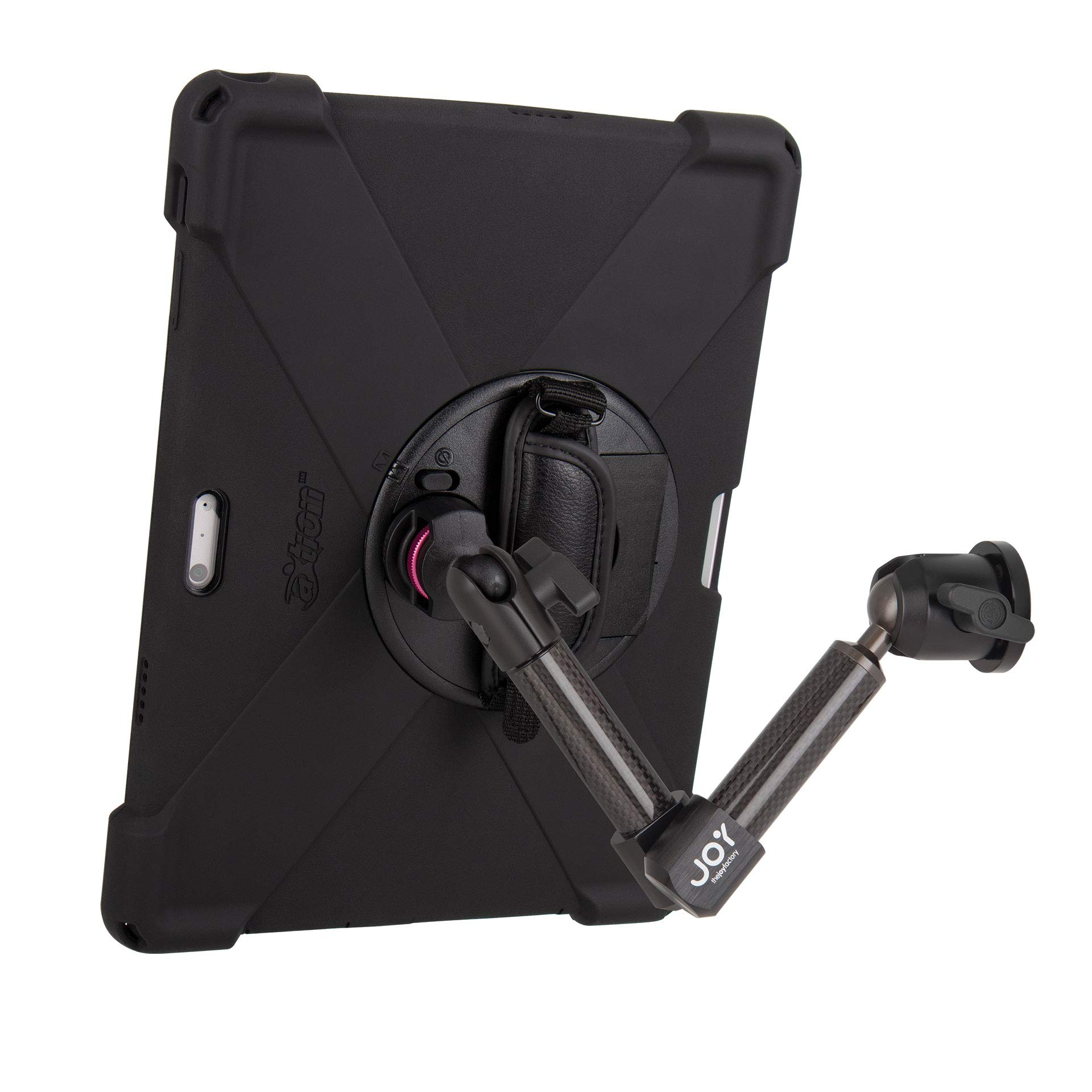 The Joy Factory MagConnect Carbon Fiber Wall/Counter Mount w/aXtion Bold MP Water-Resistant Rugged Shockproof Case for Surface Pro 4/5/6, Built-in Screen Protector, Hand Strap, Kickstand (MWM3004MP) by The Joy Factory (Image #9)