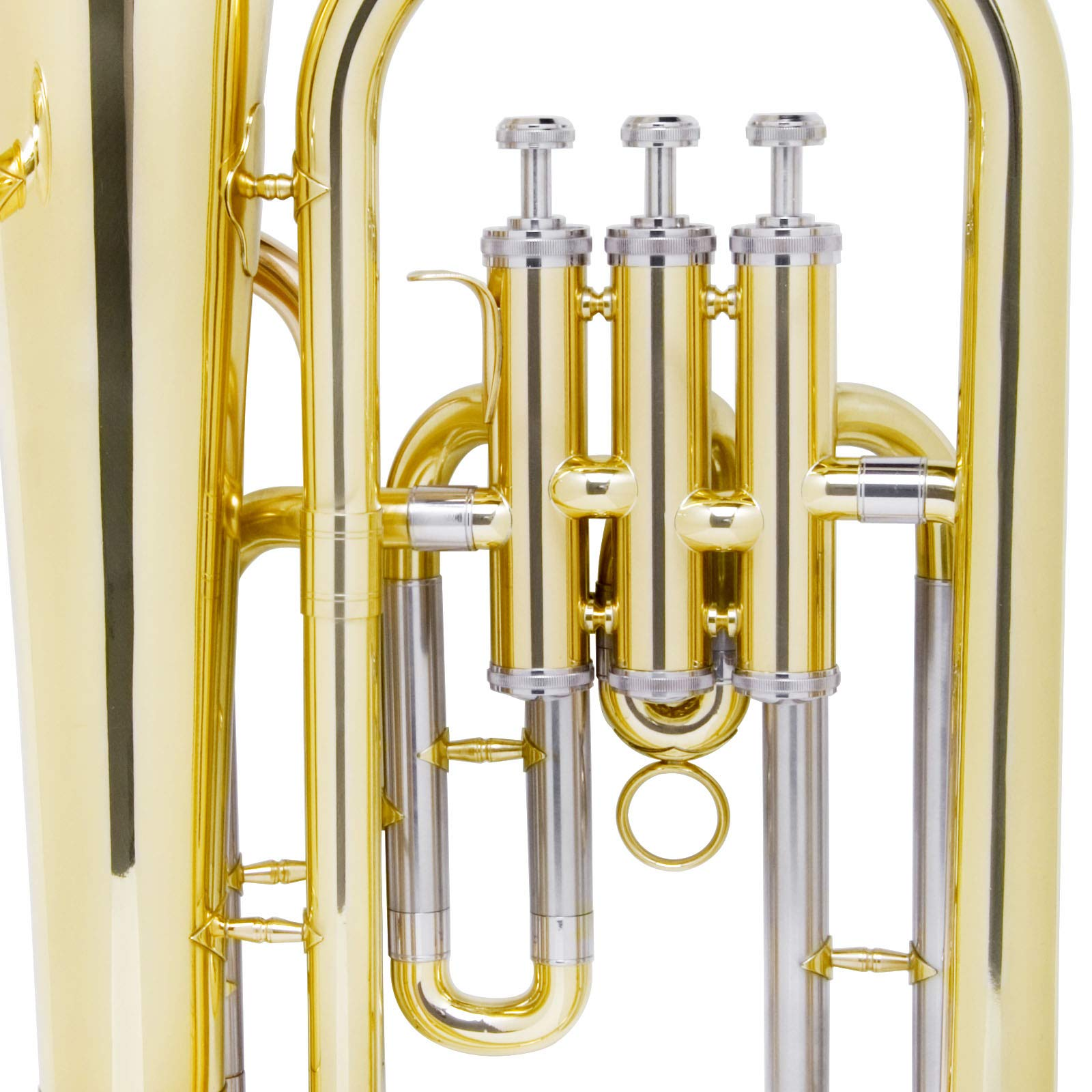 Mendini B Flat Baritone with Stainless Steel Pistons (Intermediate) by Mendini by Cecilio (Image #7)