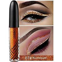 Niome 1PCS 13 Color Waterproof Shimmer Eyeshadow Glitter Liquid Eyeliner Pencil Metallic Shine Makeup 07#Kumquat