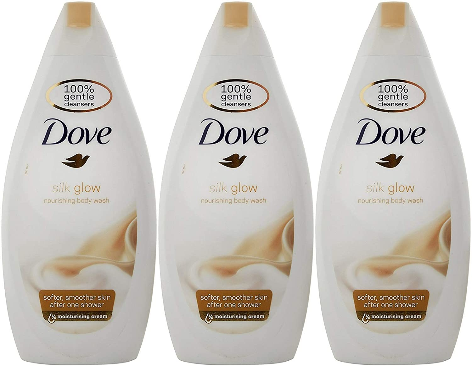 Dove Silk Glow Nourishing Body Wash, 16.9 Ounce / 500 Ml (Pack of 3)