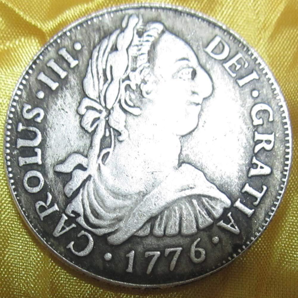 YWJHY Moneda de Cobre Doble Columna de Plata de España Carlos III ...