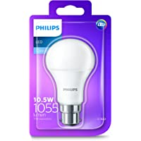 Philips LED Light Bulb (B22 Bayonet Cap 10.5W A60) - Cool White