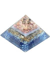 Orgonite Multi Tourmaline Orgone Energy Generator Pyramid with Rose Quartz for EMF Protection Healing Heart Emotion...