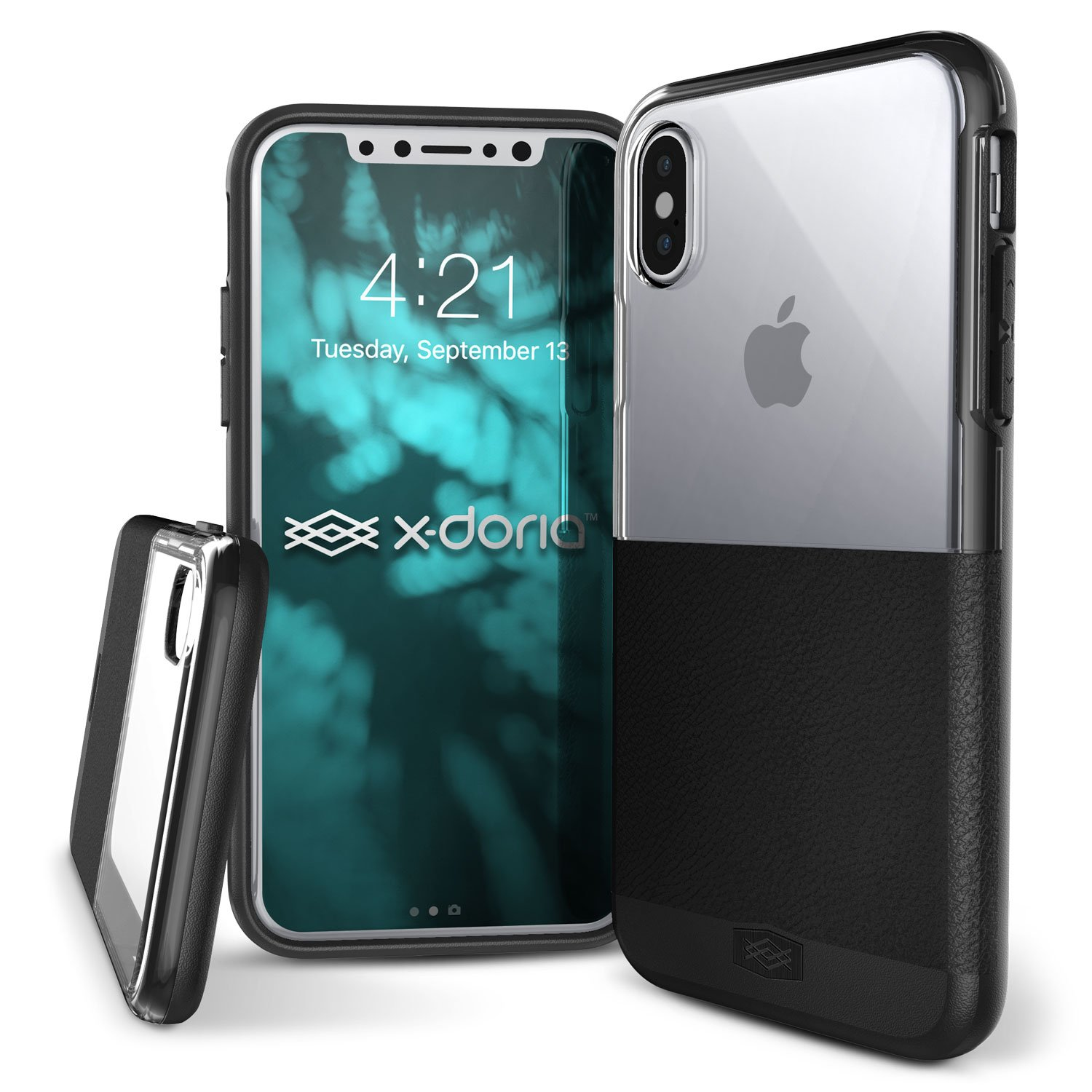 the latest 888d6 a99c8 X-Doria iPhone X, iPhone Xs Case Dash Series Protective Polycarbonate Case  with Faux Black Leather - Protective and Stylish Case for Apple iPhone X,  ...