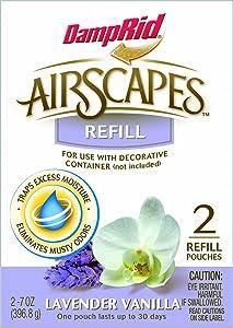DAMPRID AS20LV Airscapes Dehumidifier Refill Pouches, Lavender Vanilla, 2-Pack