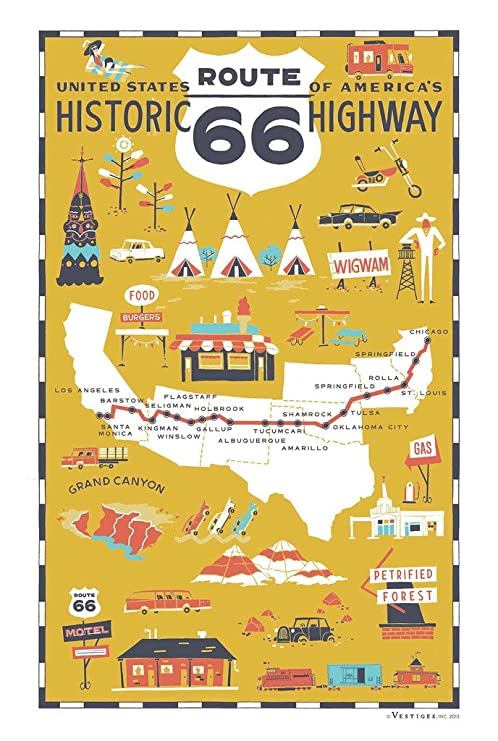 Amazon.com: Route 66 Map Historic Highway Rt 66 Attractions ... on i-84 map, calico ca map, rt 65 map, new mexico map, rt 6 map, u.s. route 6, u.s. route 50, the grapes of wrath, area of honolulu hawaii map, u.s. route 1, i-64 map, us route 101, rt 50 map, rt 80 map, tours world map, interstate 78 map, small kansas town map, rt 95 map, us interstate highway system map, us interstate highway system, i-88 map, state route 66, us highway 6 map, marta schedules and map, national scenic byway, oregon mineral map, california state route 1, loma linda map, route map, u.s. route 60, santa monica, u.s. route 41,