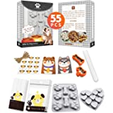YIGWANG Dog Bone Cookie Cutter, Dog Cookie Cutters for Treats,Dog Treat Molds Kit, 55 Pcs in 1 Kit, Dog-Lovers-Gifts…