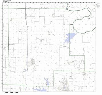 Amazon Com Noble County Oklahoma Ok Zip Code Map Not Laminated