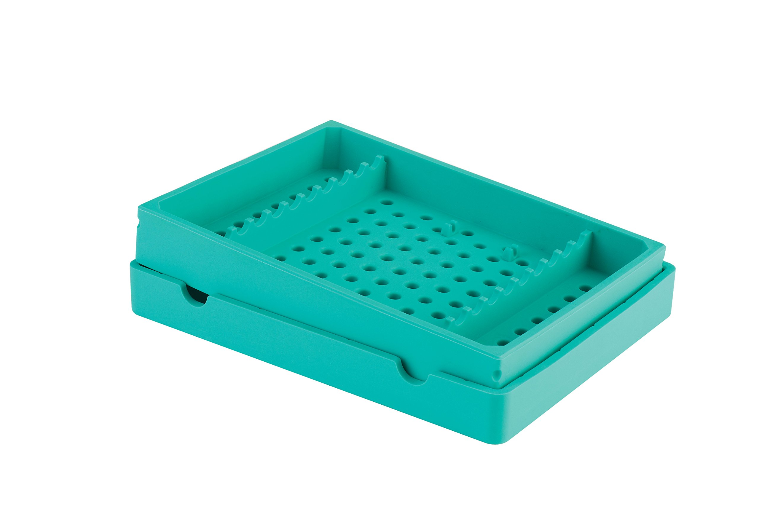 Practicon 7039771 GRE Cool Cassette 10 Instrument Container, Green