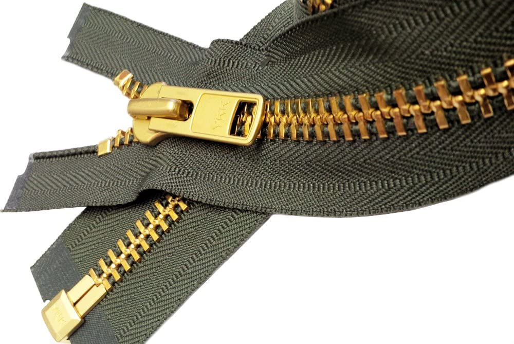 Sale 30\ Extra Heavy Duty Jacket Zipper Special Custom YKK #10 Brass Separating ~ Color 570 Sept 1 Zipper//pack Brown