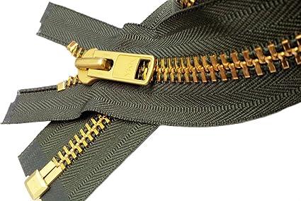 YKK #10 Brass Separating ~ Color 568 Seal Brown Sale 21\ Extra Heavy Duty Jacket Zipper Special Custom 1 Zipper//pack