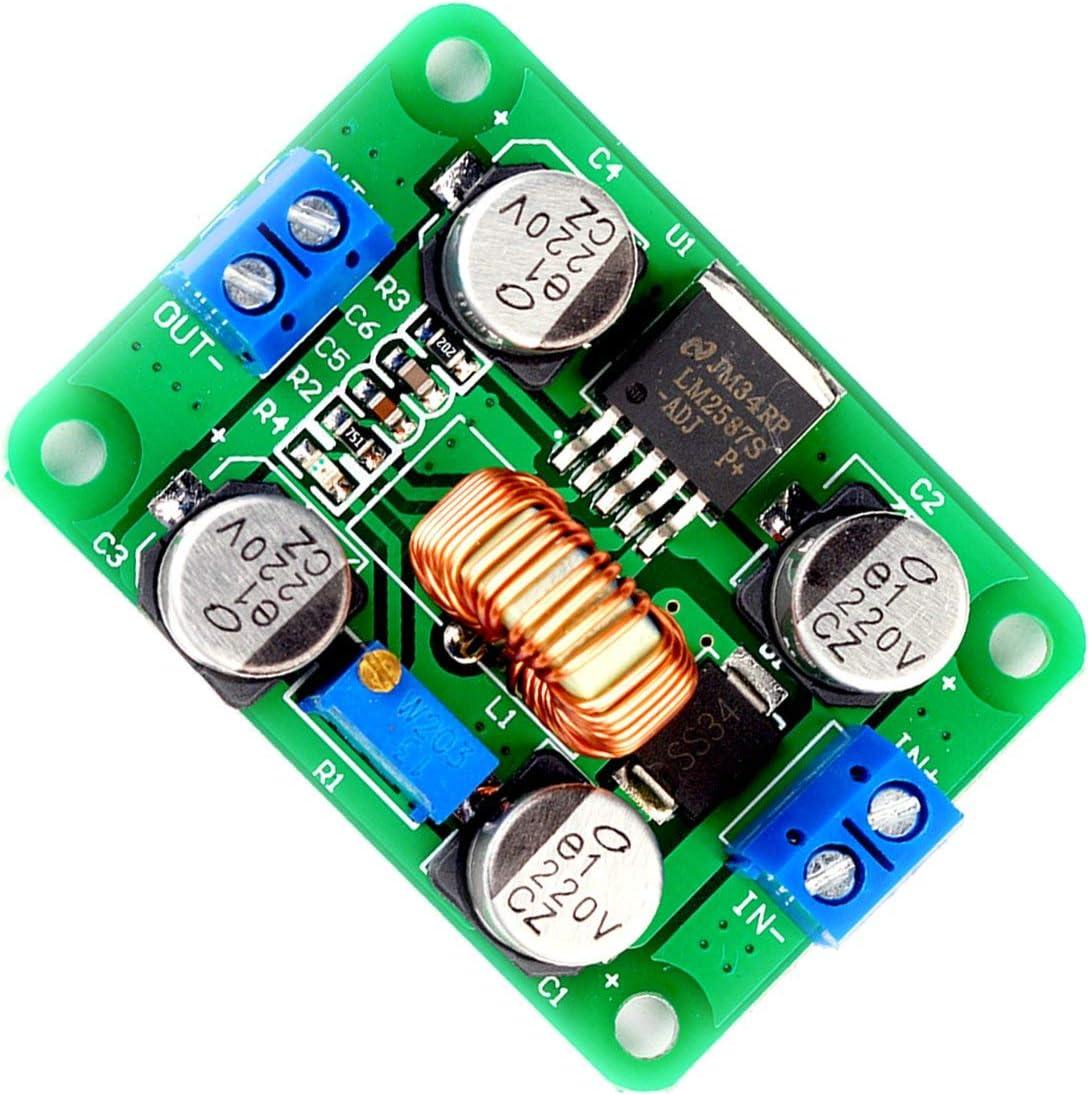 Gr/ün DC-DC-Hochspannungs-Klemmen Boost-Spannungs-Modul Lm2587 Modul Boost-Peak-5A Spannungsmodul Ultra Small