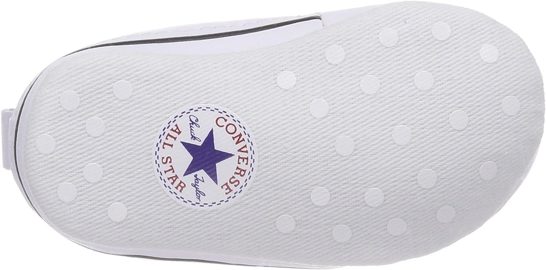 Converse First Star Cuir, Baskets mode mixte bébé Blanc, 18 EU