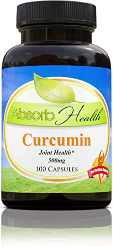 Curcumin 95 Curcuminoids Potent Anti-Inflammatory and Antioxidant 100 Capsules 500mg per Capsule by Absorb Health