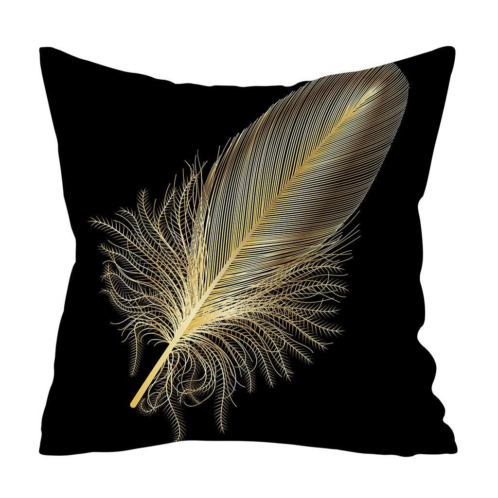 NEEKY D/écoration de la Maison Taie doreiller Or Feuille Impression Coussins pour Canap/é Accessoires de Voiture Housse de Coussin Pillowcase Fournitures dh/ôtel 45cmx45cm