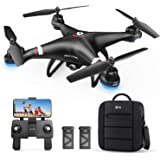 Holy Stone GPS Drone with 1080P HD Camera FPV Live Video for Adults and Kids, Quadcopter HS110G with Carrying Bag, 2 Batterie