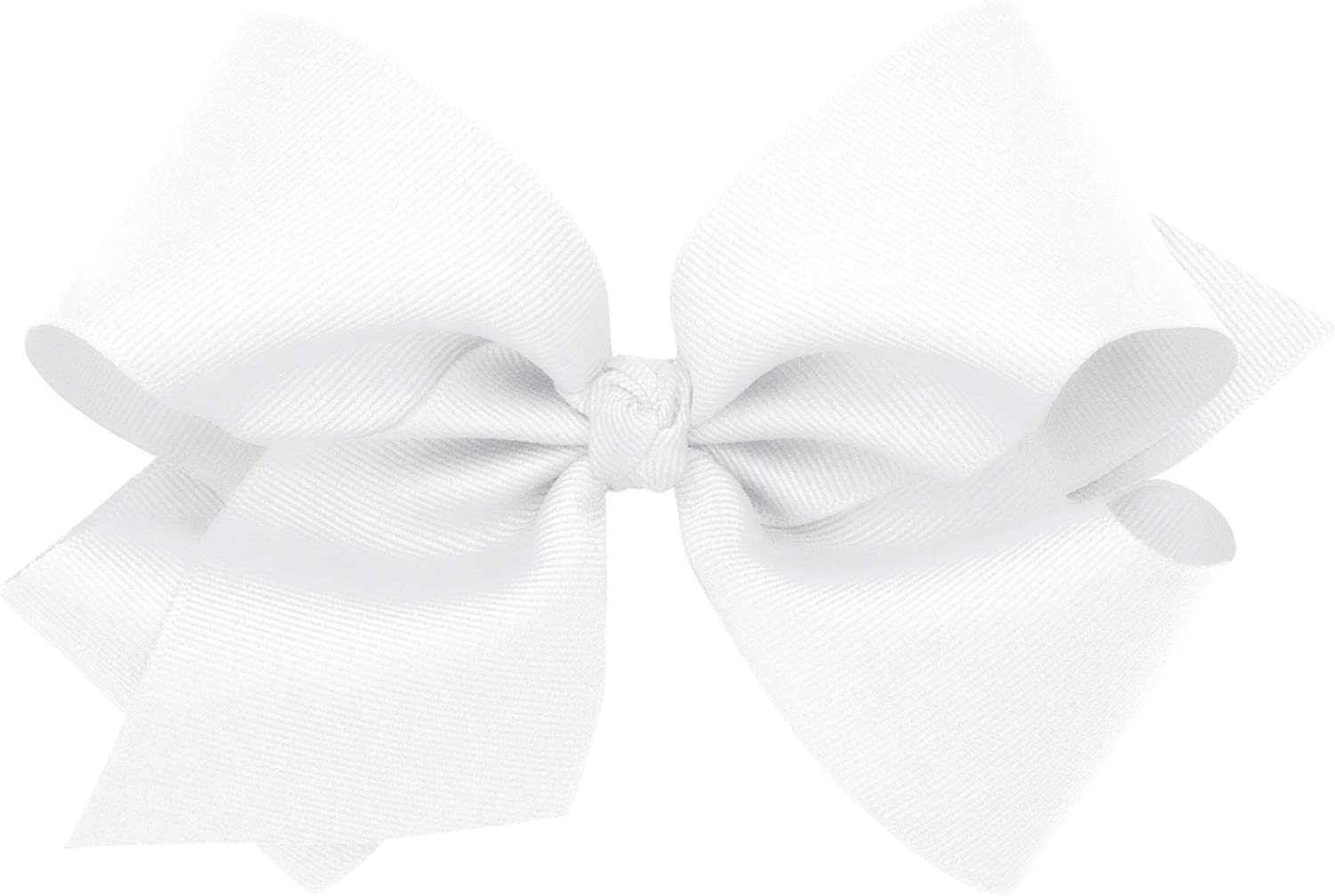 B00XJUENC4 Wee Ones Baby Girls\' King Classic Grosgrain Hair Bow on a WeeStay Clip w/Knot Wrap Center 71FFPNG5W0L