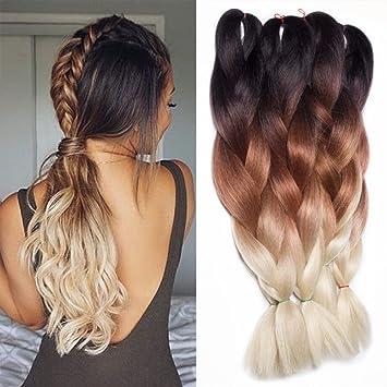 Amazon Com Feilimei Ombre Jumbo Braiding Hair Extension 5pcs Lot