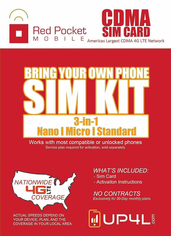 Amazon.com: Red Pocket Mobile CDMA - Kit de iniciación de ...