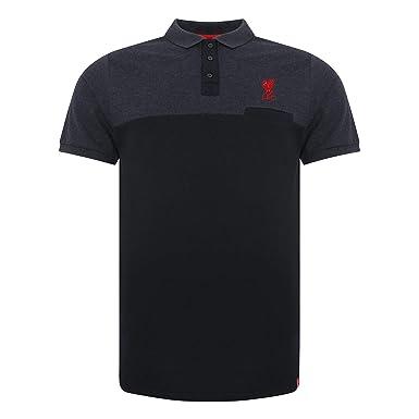 afefa5172 Liverpool FC Mens Soccer Navy Colour Block Polo Shirt AW 18 LFC ...