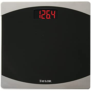 Taylor Precision Products Glass Digital Bath Scale (Black/Silver)