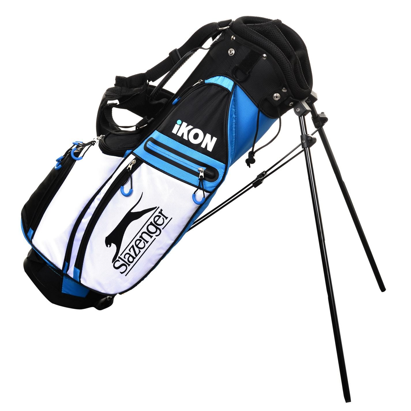 Amazon.com: Slazenger Kids Ikon Stand Bag Junior Golf Black ...