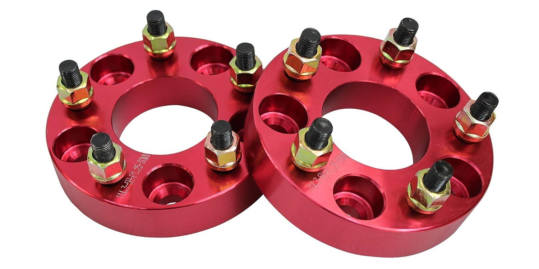 ワイドトレッドスペーサー レッド 2枚セット PCD100 5H M12×P1.5 厚さ30mm SPR0630 B00IY5FS8C