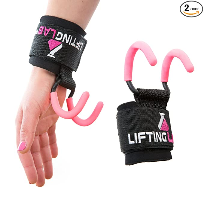6f16d11fc6 Lifting Lab | Women's Weightlifting Hooks | Grip Assisting Callous Guards  for Back Exercises