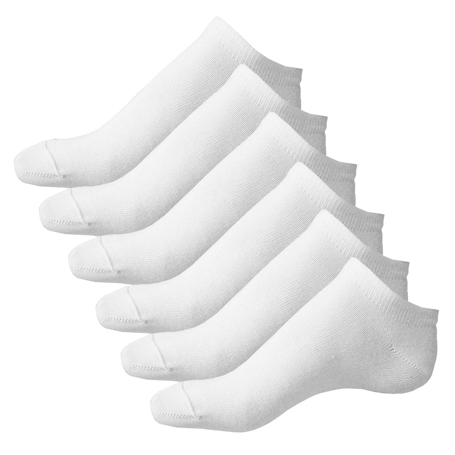 6 Pairs boys Plain White ex chainstore Trainer Socks 12-3 uk , 31-36 eur