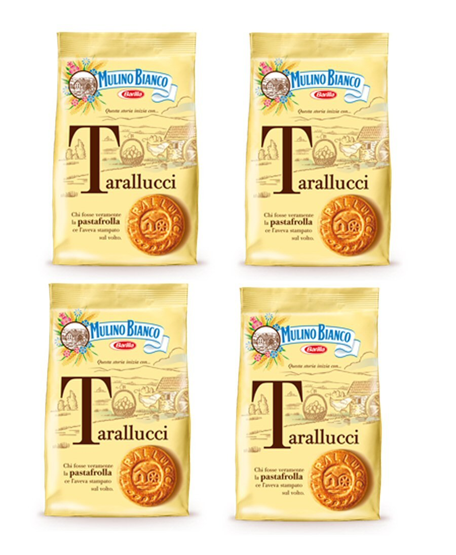 Mulino Bianco: ''Tarallucci'' Biscuits made with fresh eggs * 14.1 Ounce (400g) * Pack of 4 [ Italian Import ]