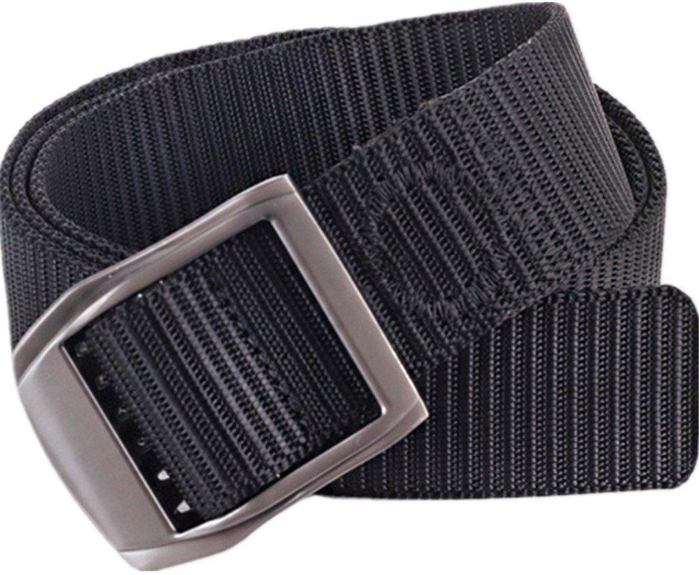 Gozillon Belt for Men Military Tactical Belt Buckle Nylon Web Belt 1.5'' Wide (Black)