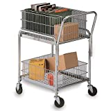 """Mail Cart - 25x17"""" Baskets - 4"""" Casters"""