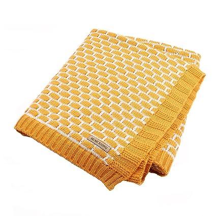 MMX Otoño Invierno Cálido mantas de bebé para tejer patrones blanco Plaid ganchillo niños, niñas
