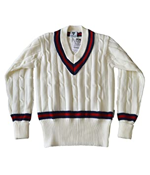 eda4f36a1cc Fearnley Cricket Jumper Sweater Sweatshirt Cable Knit Knitted Large Boys  New  Amazon.co.uk  Sports   Outdoors