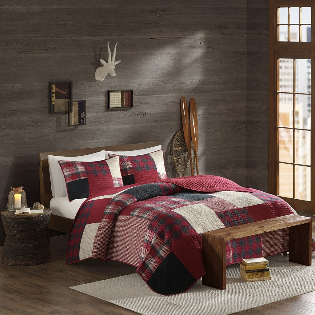 Woolrich Sunset Coverlet Mini Set Cal King Red
