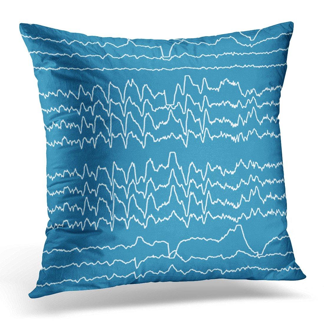vanmiスロー枕カバーSleeping Rem睡眠Wave夢装飾枕ケースホーム装飾正方形枕 16 x 16 inches シルバー B07DB6YQGZ  16 x 16 inches