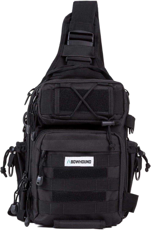 Bowhound Fishing Bag Outdoor Tackle Storage Bag Shoulder Backpack Cross Body Sling Bag Great for Fishing, Hiking, Hunting, Camping