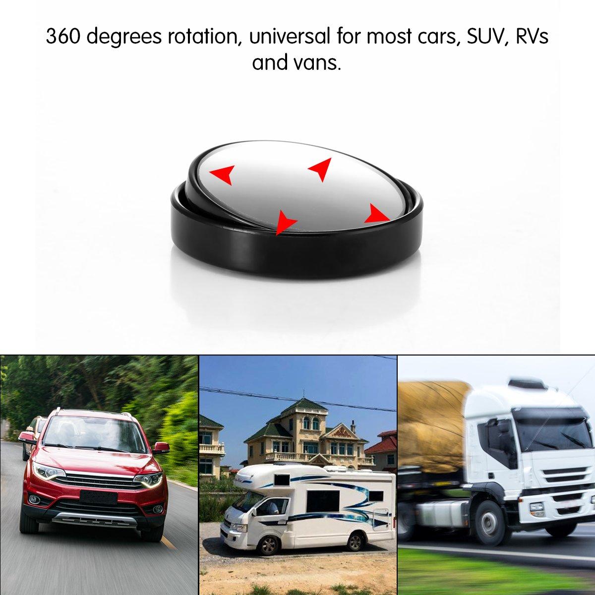 rund Glas 360 Grad drehbar Parkspiegel f/ür SUV Auto Zubeh/ör OurLeeme Klarer Auto-R/ückspiegel Weitwinkelobjektiv