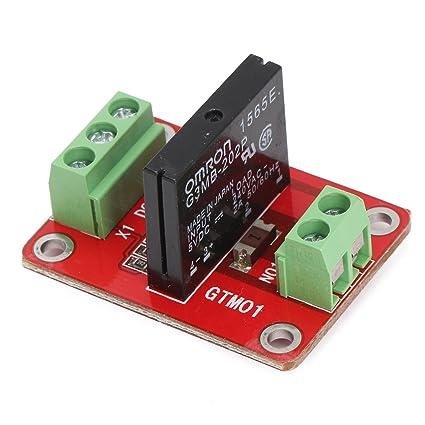 amazon com 5v 1 channel ssr solid state relay module board for ac rh amazon com