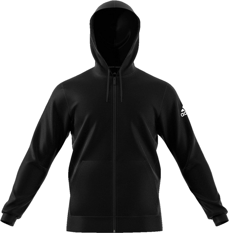 adidas Herren M Mh Plain Fz Sweatshirt Black/White
