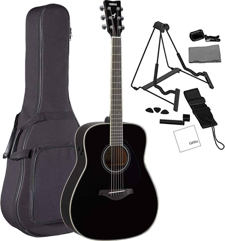 Yamaha FG-TA BL Guitarra acústica eléctrica Dreadnought, negra ...