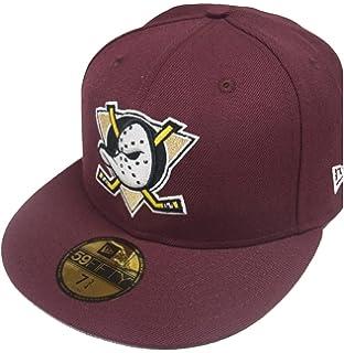 pretty nice c5875 a7fb0 New Era 59Fifty Anaheim Mighty Ducks Fitted Hat (Maroon) Men s NHL Hockey  Cap