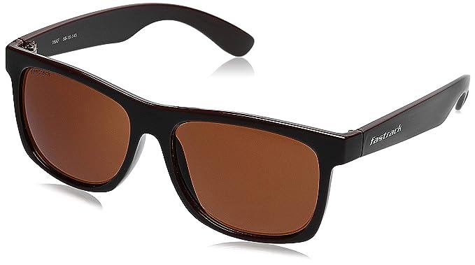 Fastrack UV Protected Wayfarer Men's Sunglasses - (P425BR1|56|Brown Color Lens)