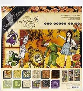 Graphic 45 Magic of Oz Deluxe Collector's Edition Craft Paper, Multi