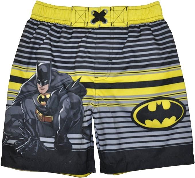 Batman Long Sleeve Swim Rash Guard UV Protection//UPF 50 Swimwear//Swimsuit for Toddler Boys