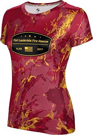 Women S Fort Lauderdale Fire Rescue Fire Department Marble Shirt