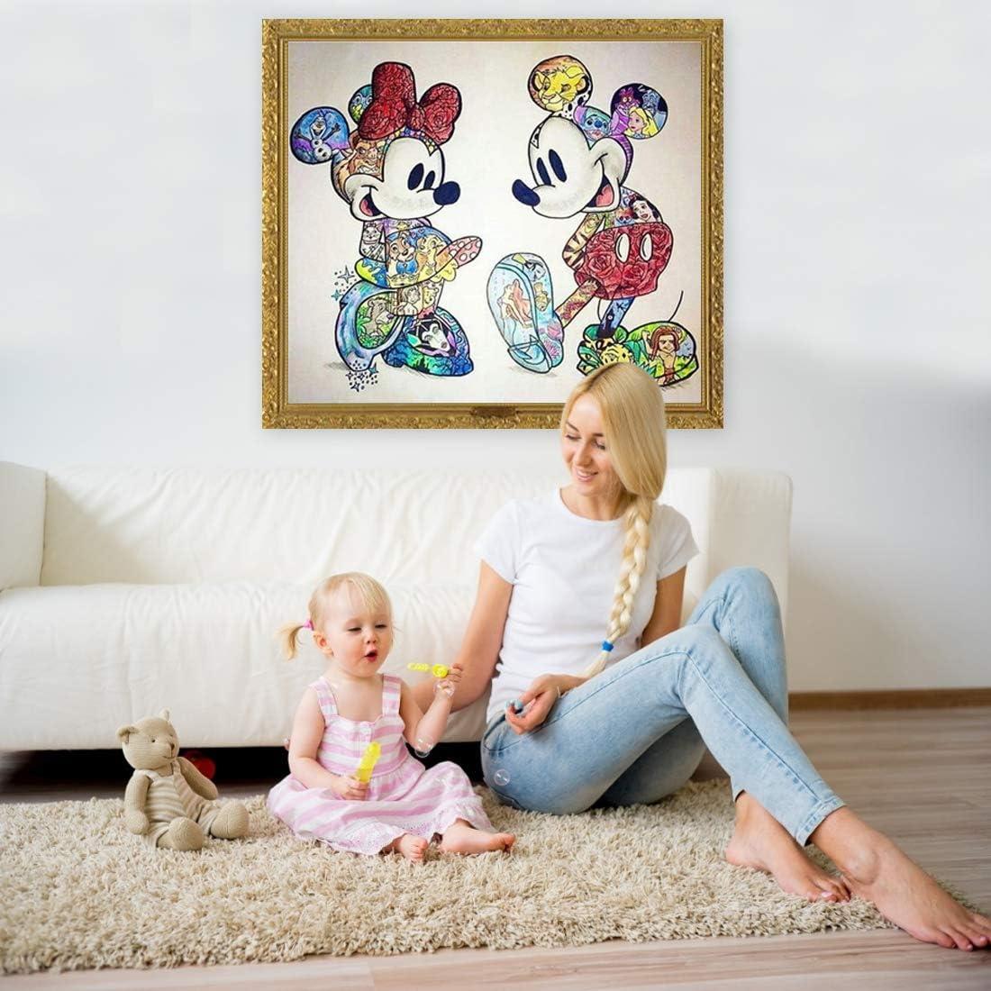 Tomicy Kit per Diamond Painting 5D Resina Artist Diamond Painting Kit Completo Pittura Diamante per Numeri Mickey Mouse Bricolage Diamond Painting per Adulti Bambini