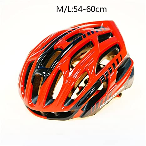 Scrohiro Mtb Mountain Bike Helmet Cascos Bicicleta Carretera Ciclismo Bicycle Cycling Intergrally Light red blk