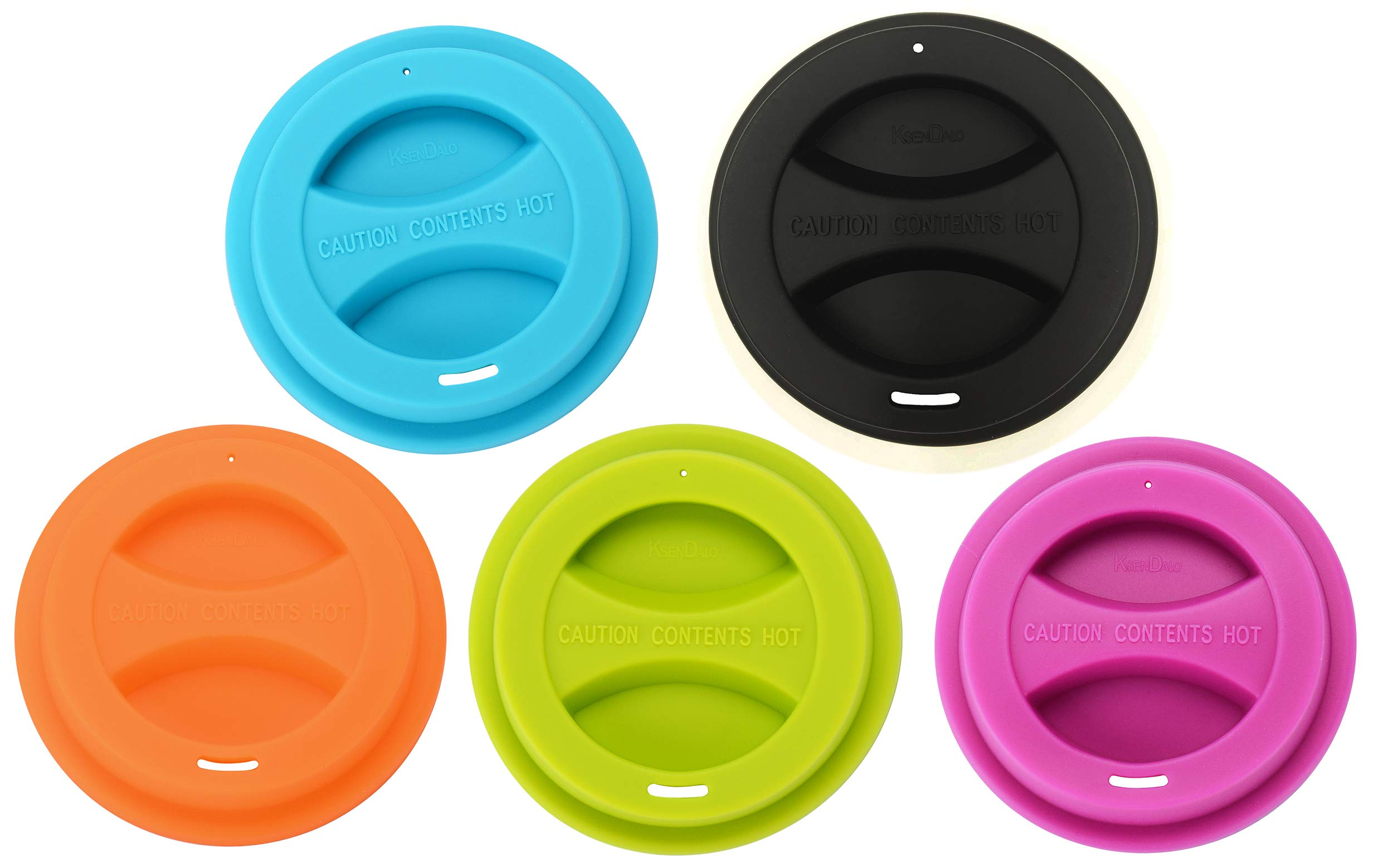 100/Pack Reusable Silicone Lids for 12oz & 16oz Coffee Cups, KSENDALO Drinking Coffee/Tea Silicone Cup Lids, Random color